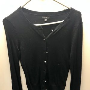 Express Long Sleeved Black Sweater